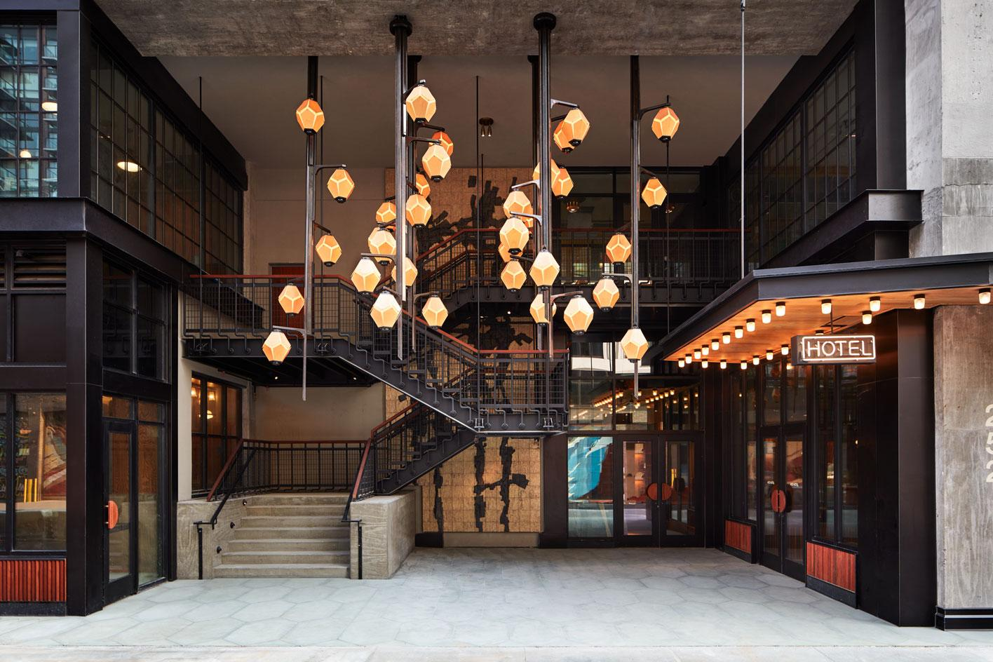 The brutalist exterior of the new Ace Hotel Brooklyn, designed by architectsRoman and Williams
