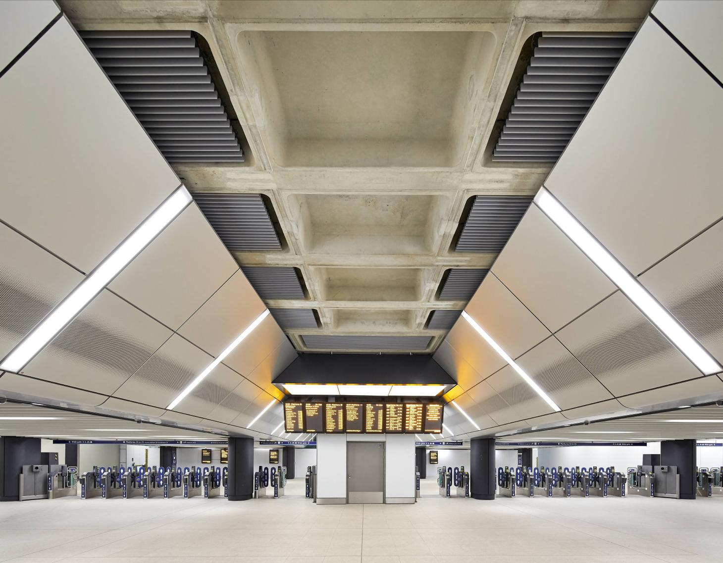 AECOM's careful attention to detail referenced the original 90s era design of the Terminal