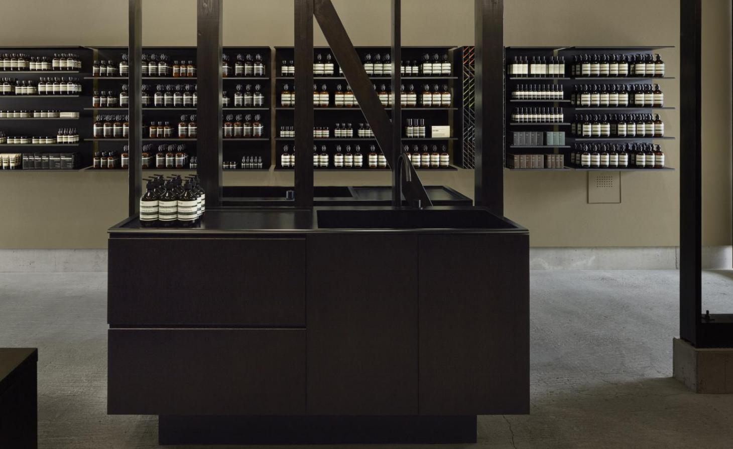 Aesop store design by Case Real in Japan