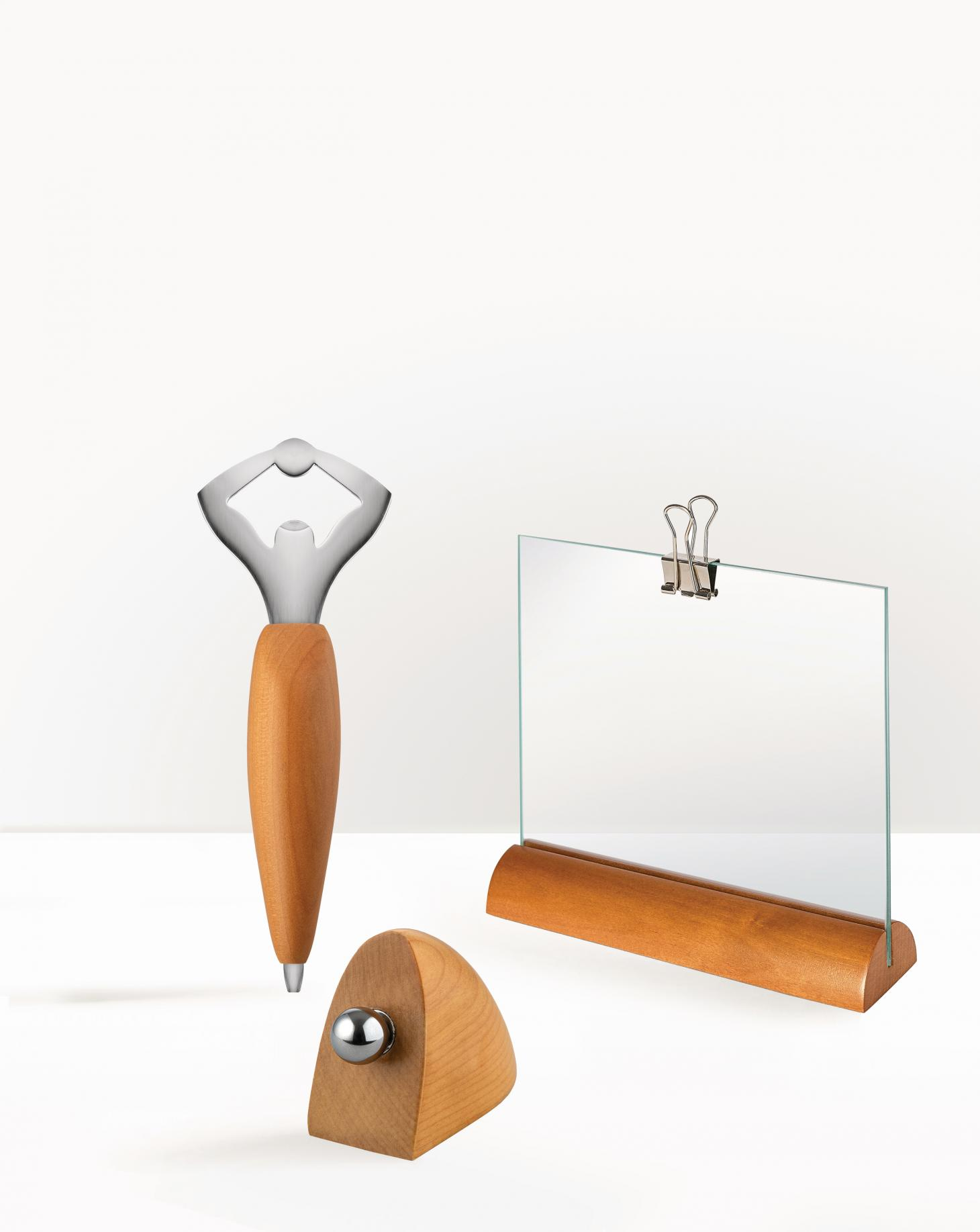 wooden objects designed by Andrea Branzi for Alessi