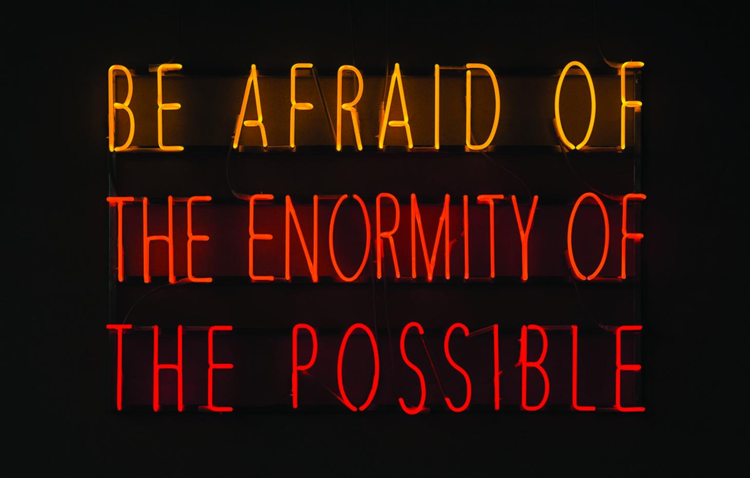 Be Afraid of the Enormity of the Possible, by Alfredo Jaar