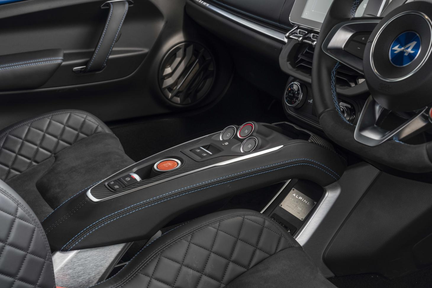 Alpine A110 driver controls