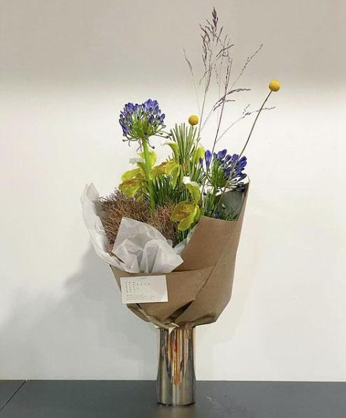 Floral arrangement designed by FDK florists in Brooklyn