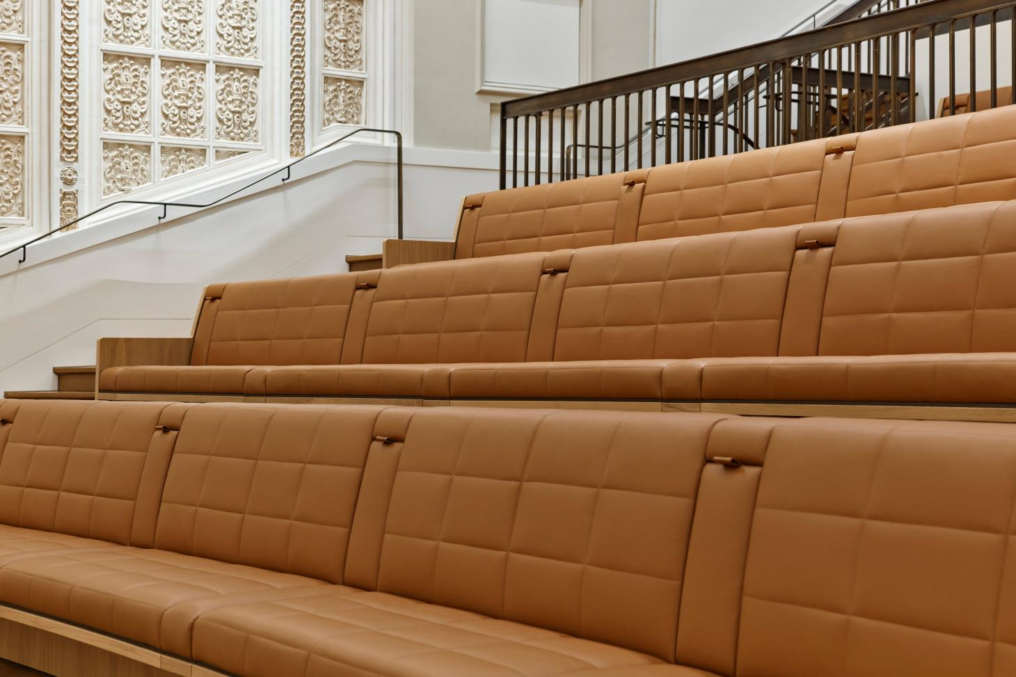 Italian leather seating at Apple Tower Theater in LA