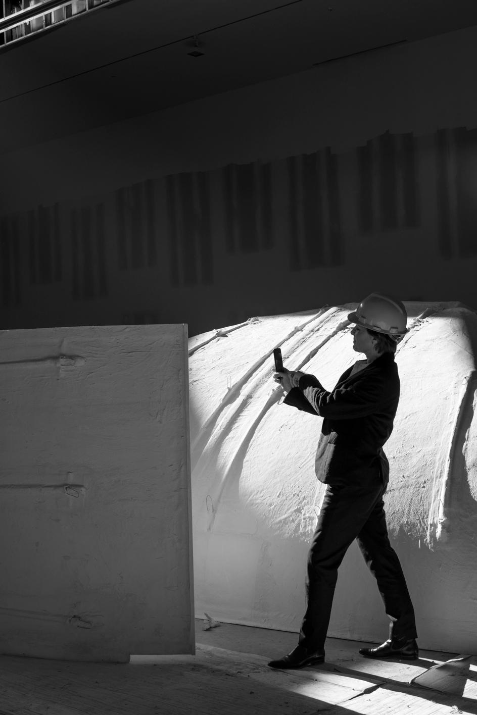 Annabelle Selldorf's on the construction site of Hauser & Wirth's New York gallery