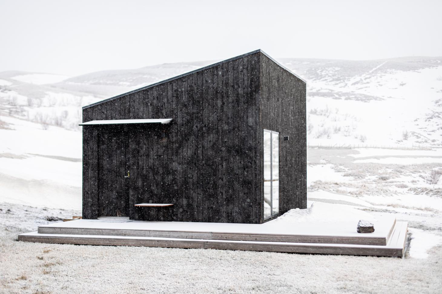 aska is a wooden, sustainable cabin in Iceland