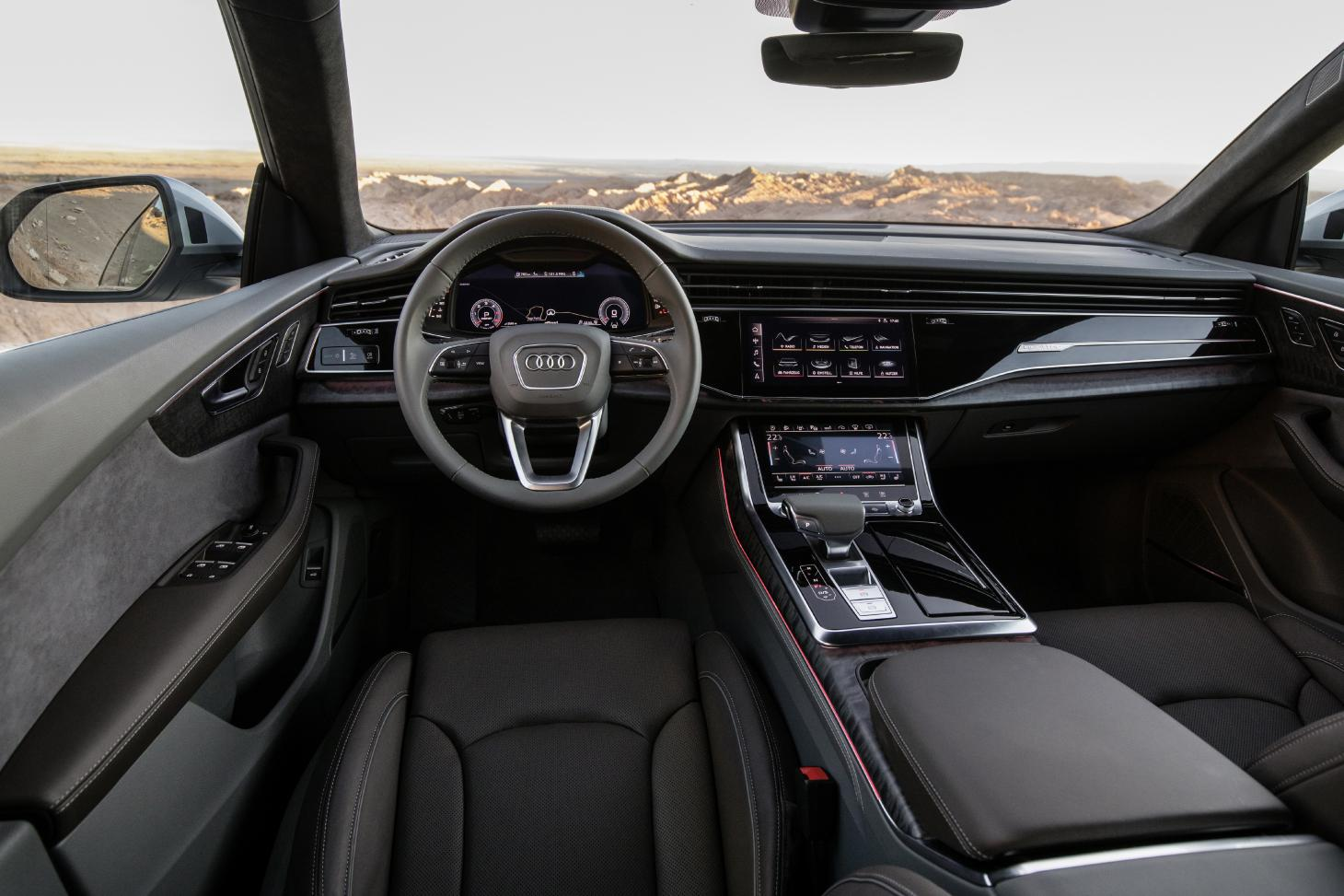 Driver cockpit of Audi Q8 SUV