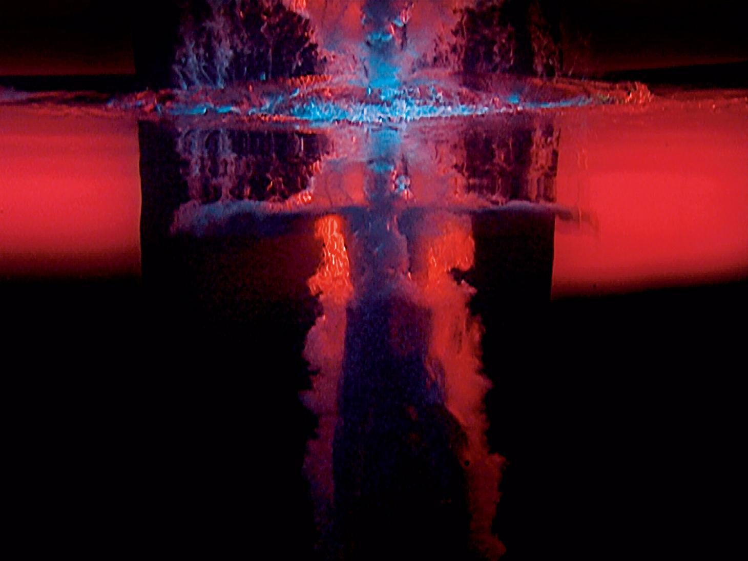Fire Angel, panel 3 from Five Angels for the Millennium, 2001, by Bill Viola