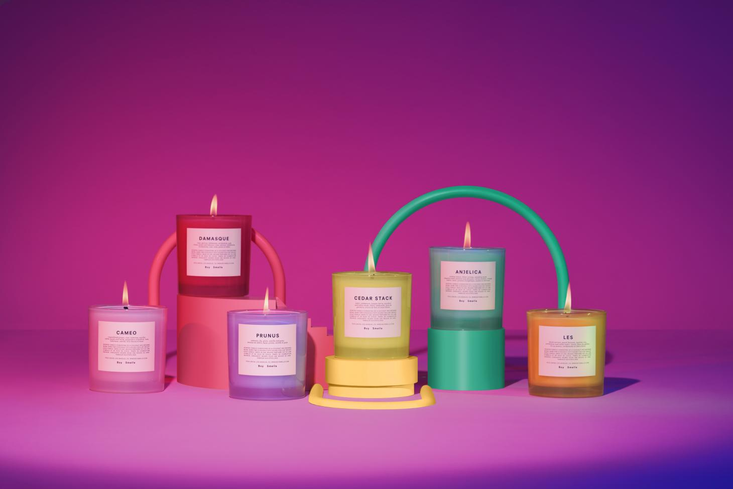 boy smells pride campaign candles