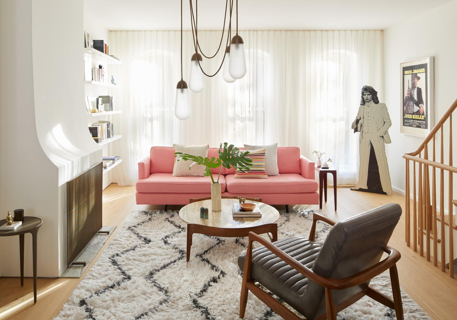 bright and open living space at Boerum Hill Townhouse