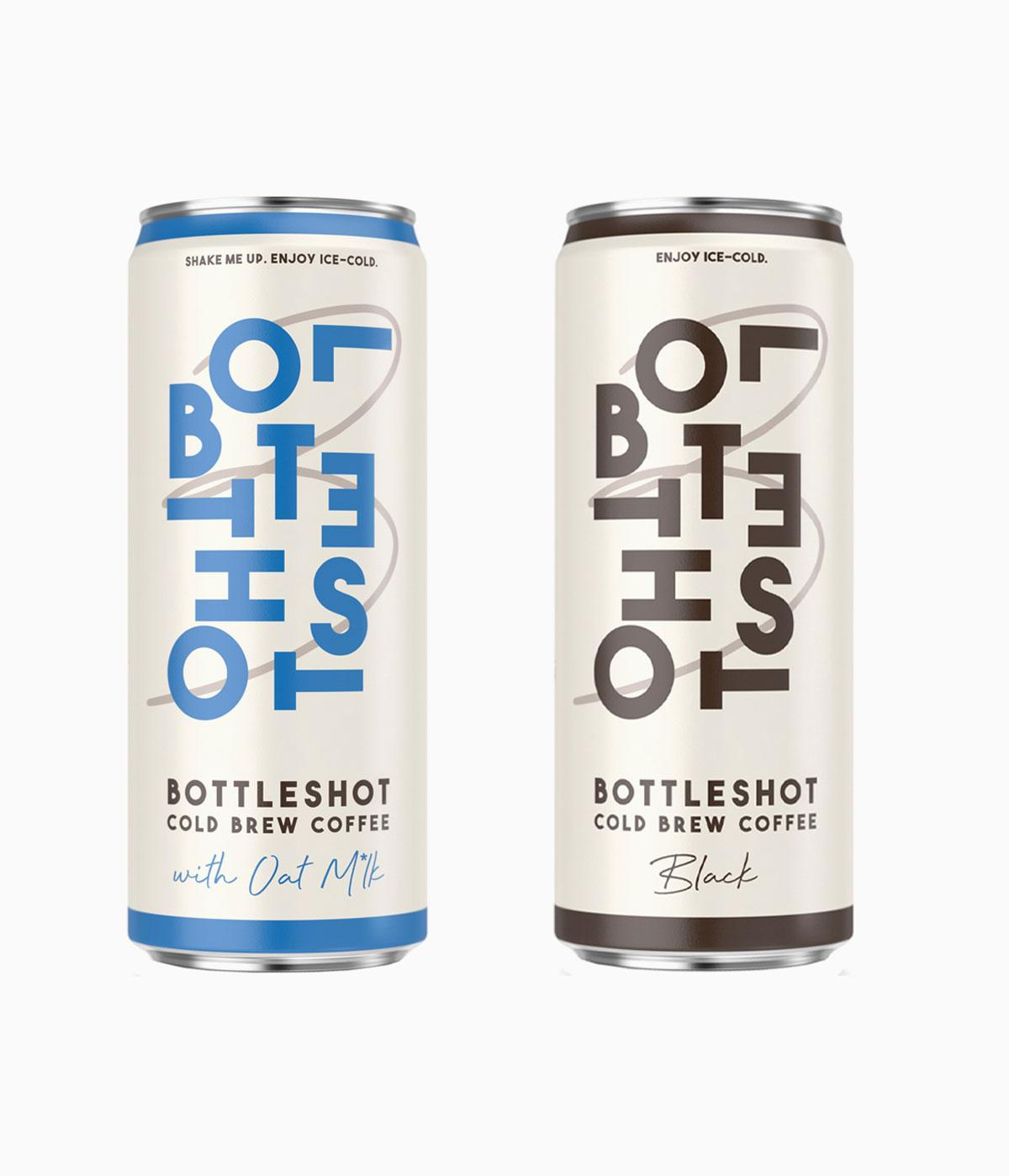 Bottleshot Cold Brew coffee in aluminium cans
