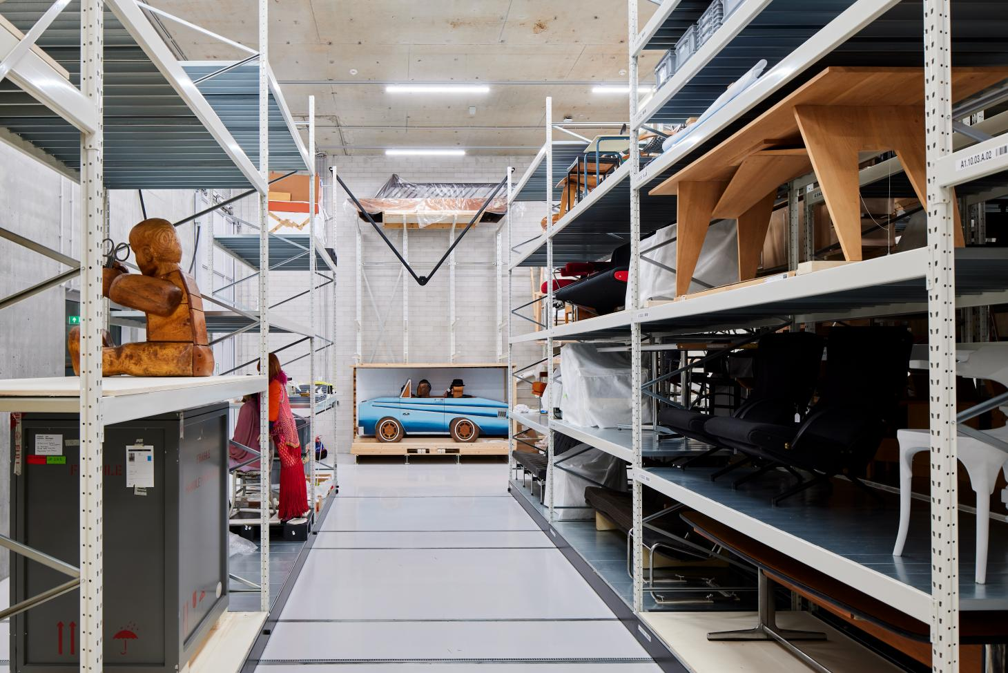 large object storage on display at the Boijmans museum Depot in Rotterdam