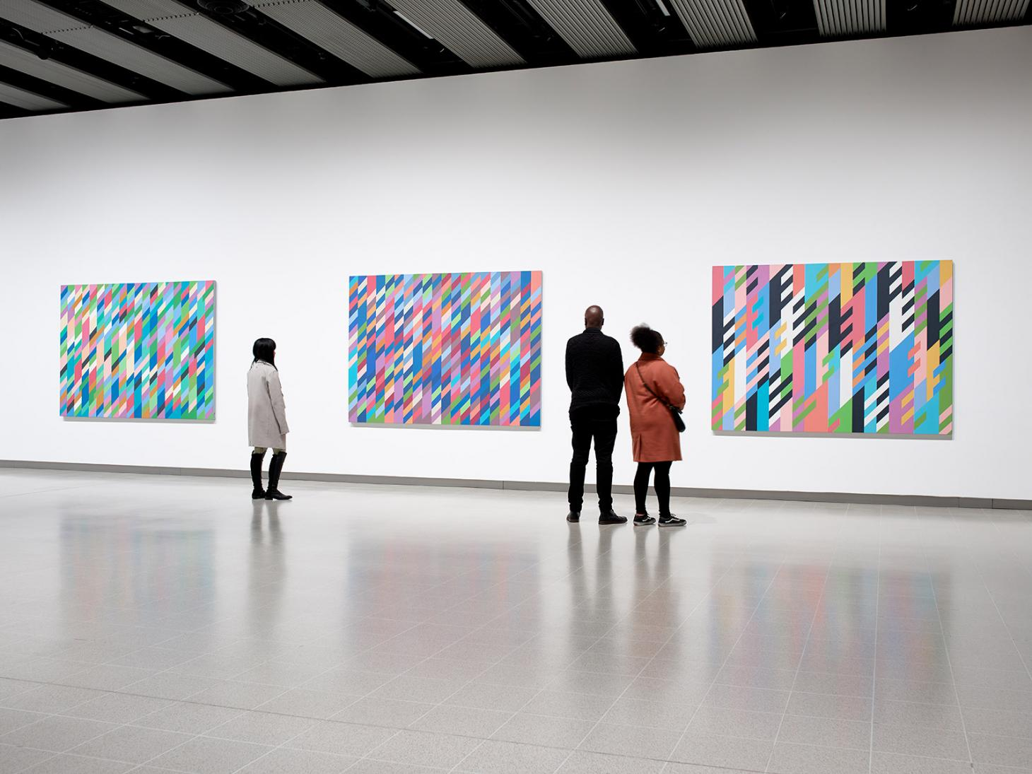 View of 'Bridget Riley' at the Hayward Gallery, London