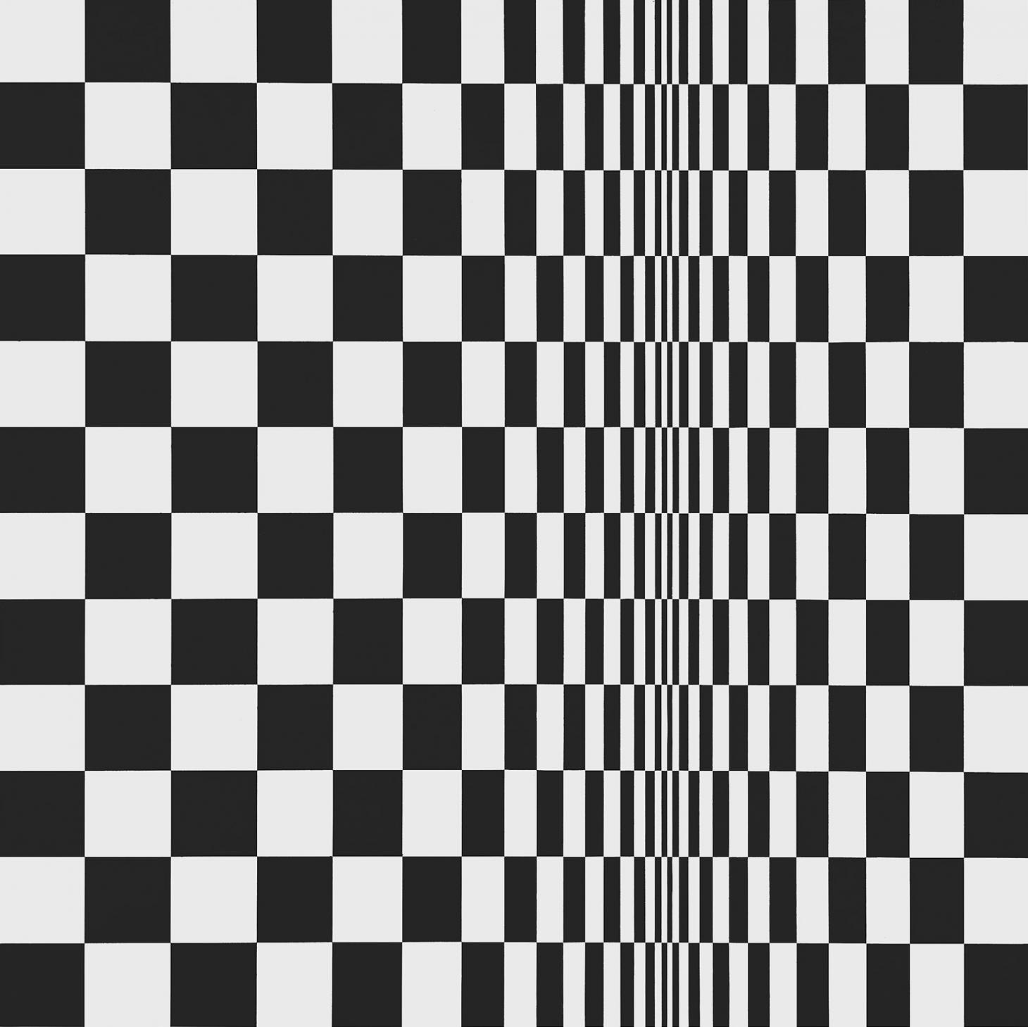 Movement in Squares, 1961, by Bridget Riley