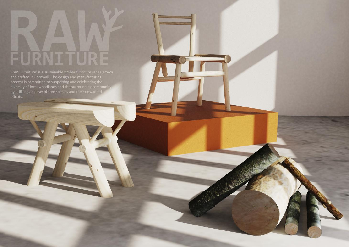 Raw Furniture is a furniture making scheme for Cornwall as part of RSA's A New Leaf competition