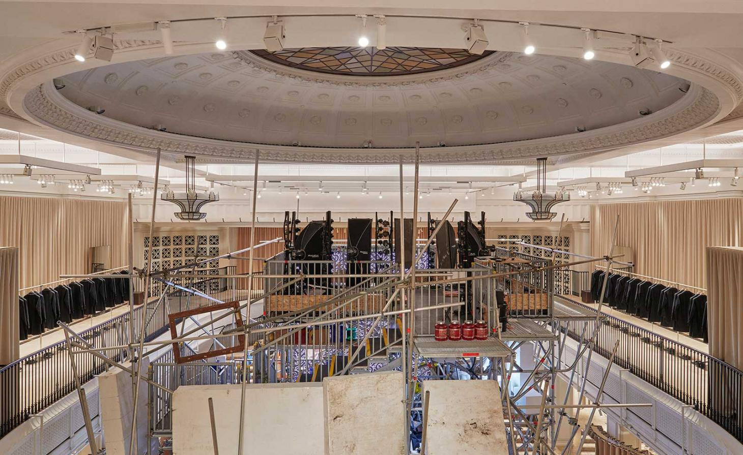 Burberry flagship with Graham Hudson installation