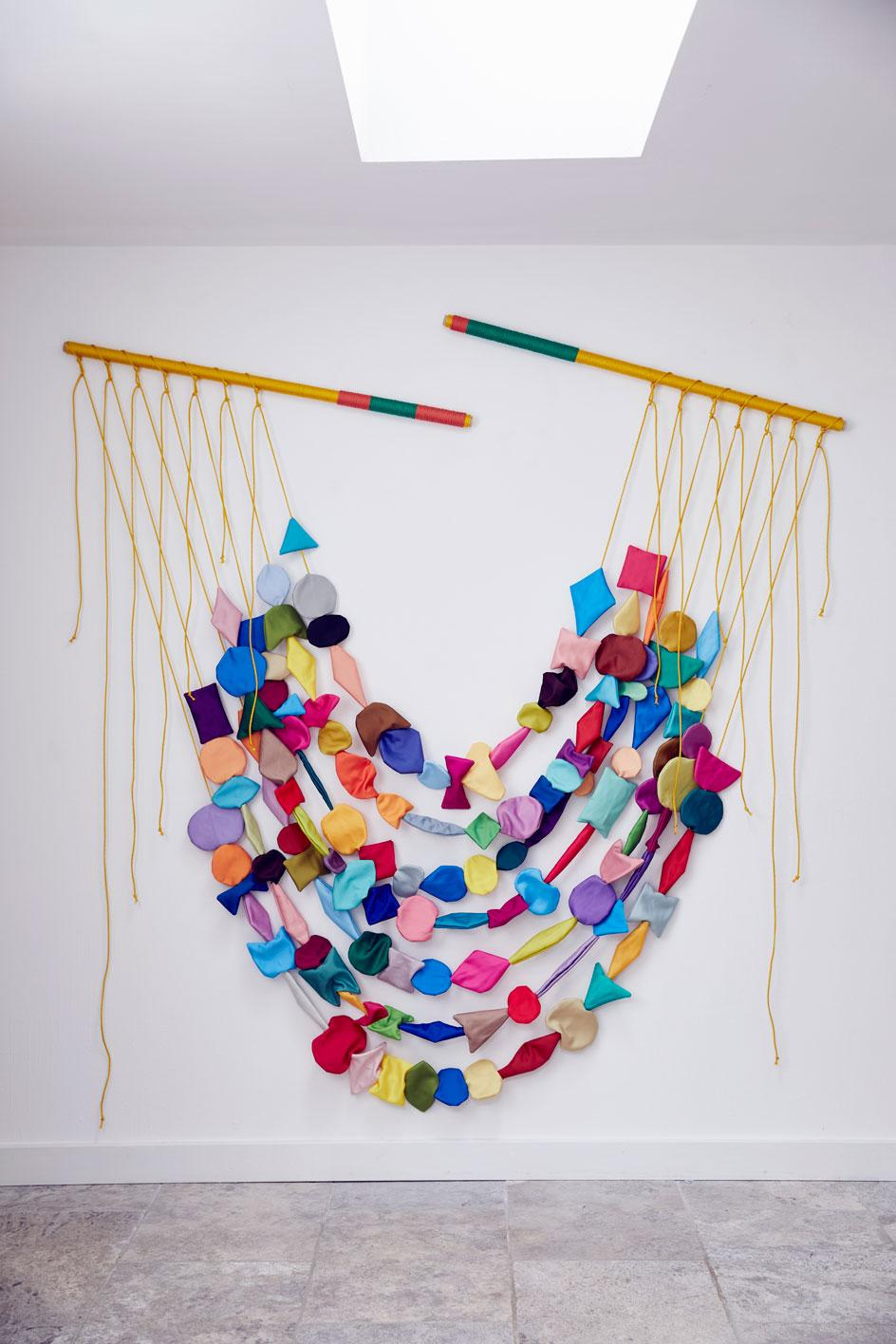 Anna Ray, Capture, textile wall piece, part of the most innovative textile artists