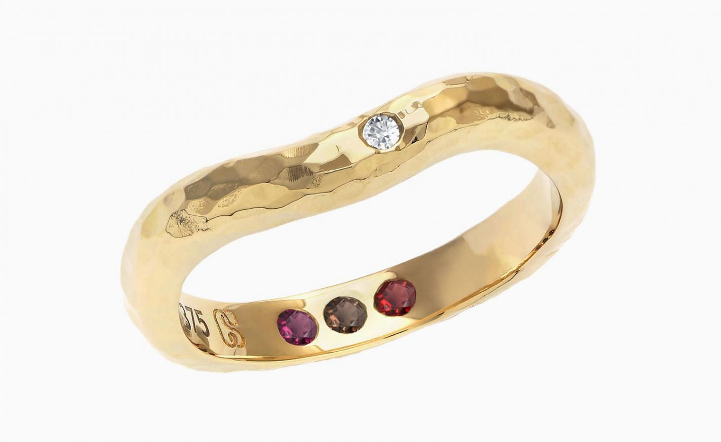 Carolin Stone gold diamond ring