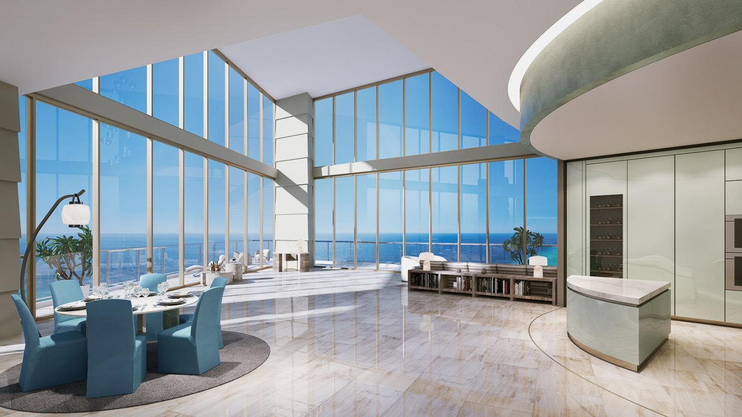 Penthouse at Residences by Armani Casa