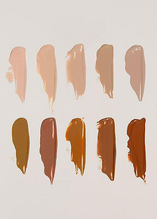 Different colour swatches of Cle's CCC cream Korean sunscreen and skincare