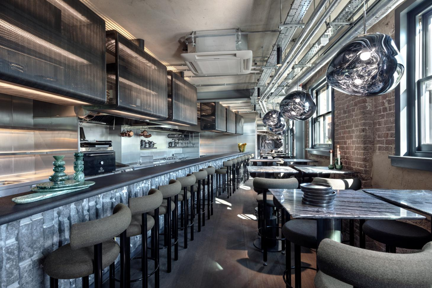 The Coal Office restaurant interior Tom Dixon