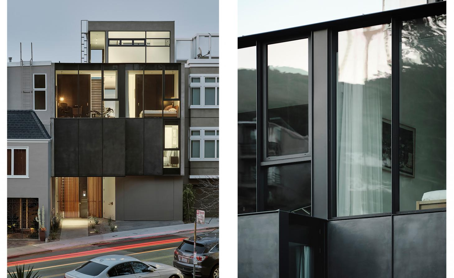 Twin Peaks Residences' photo showing exterior views at dusk and in close up
