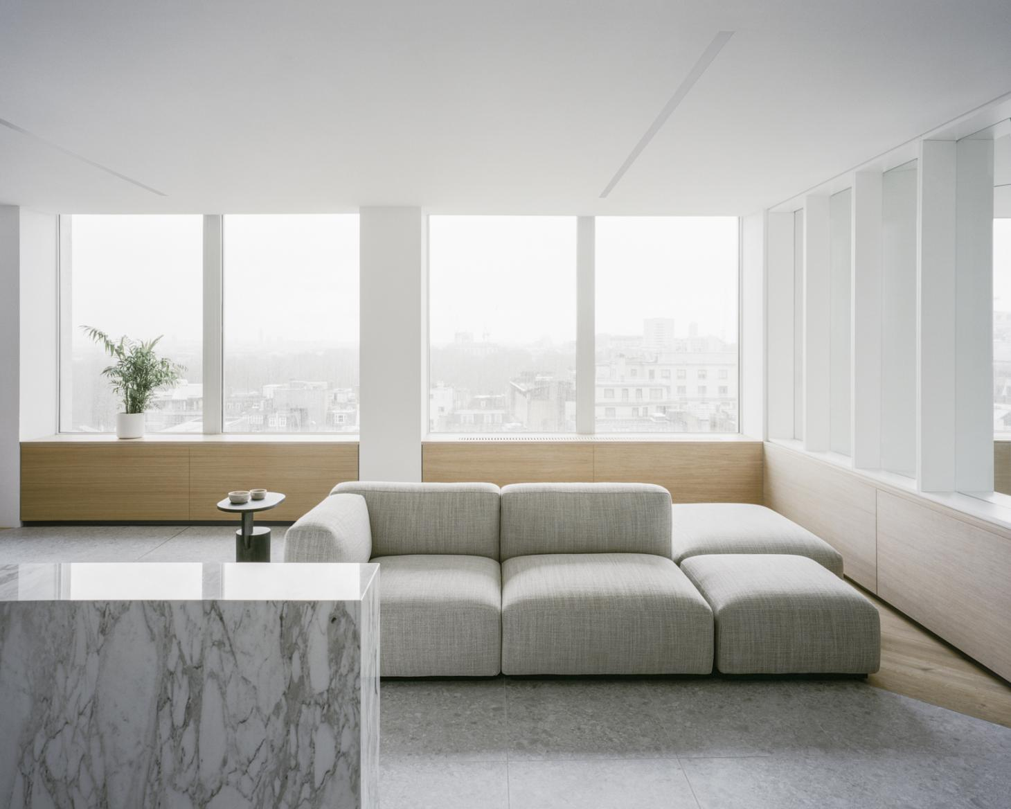 ConForm Architects at The Smithson Building with minimalist sofa