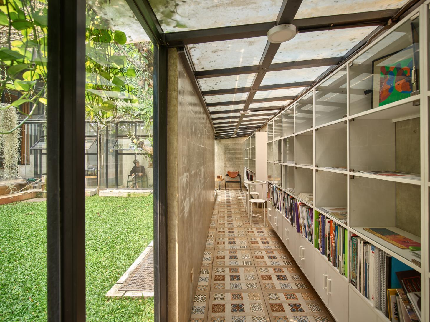 library at RAW architecture's live/work space