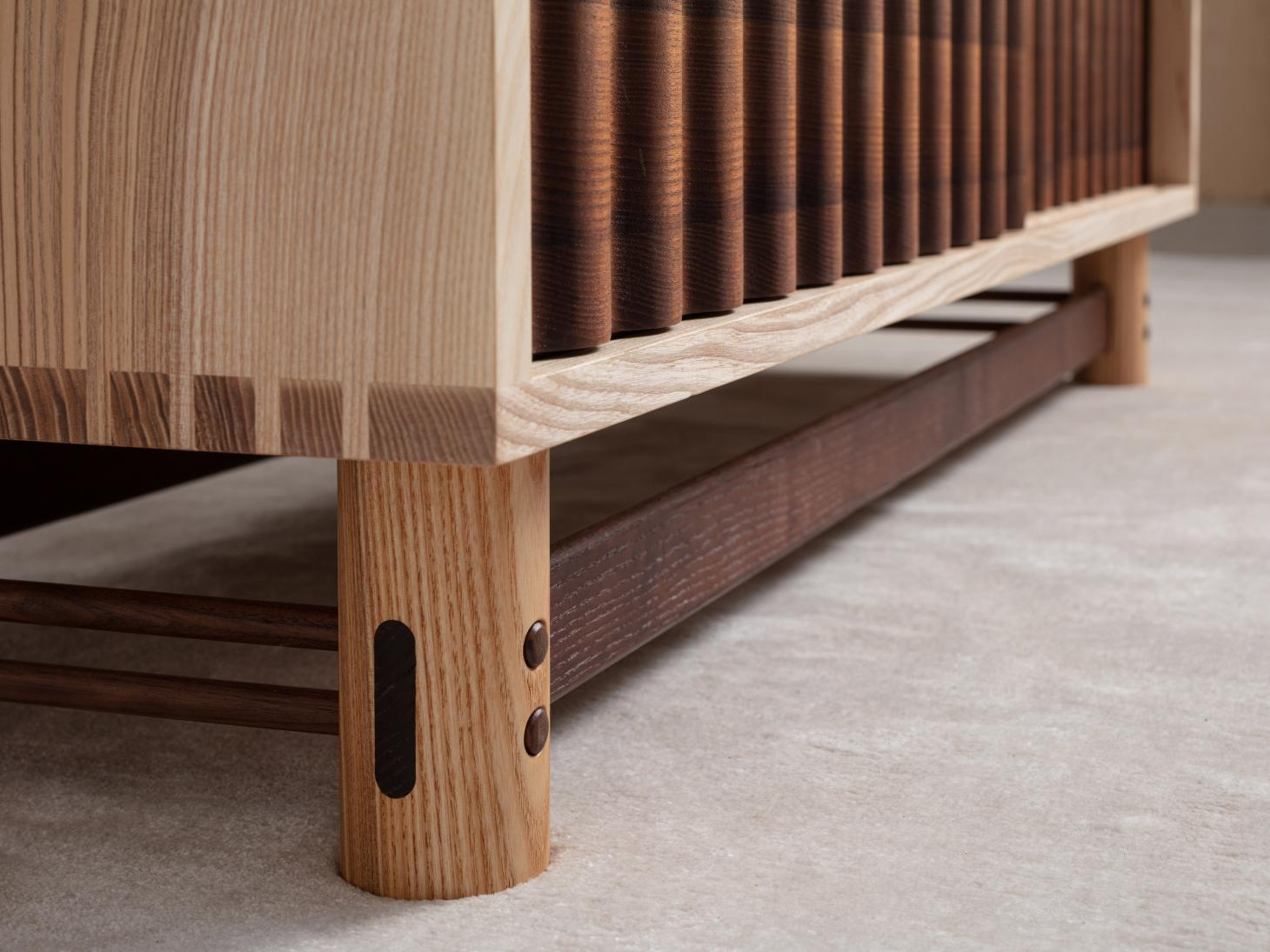 Wooden furniture joinery details
