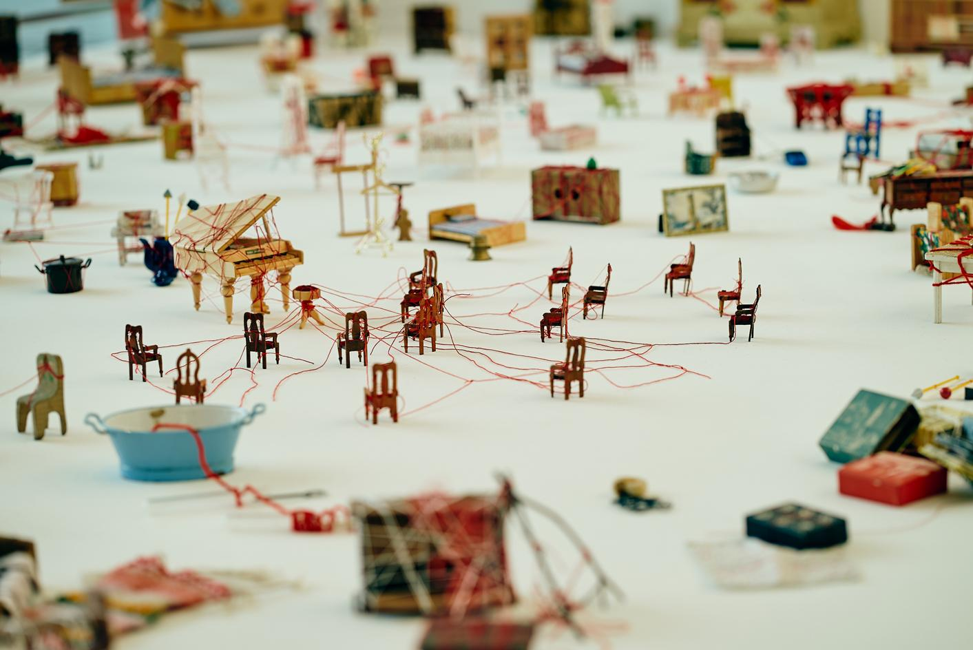 Connecting Small Memories, a mixed media installation at the Busan Museum of Art