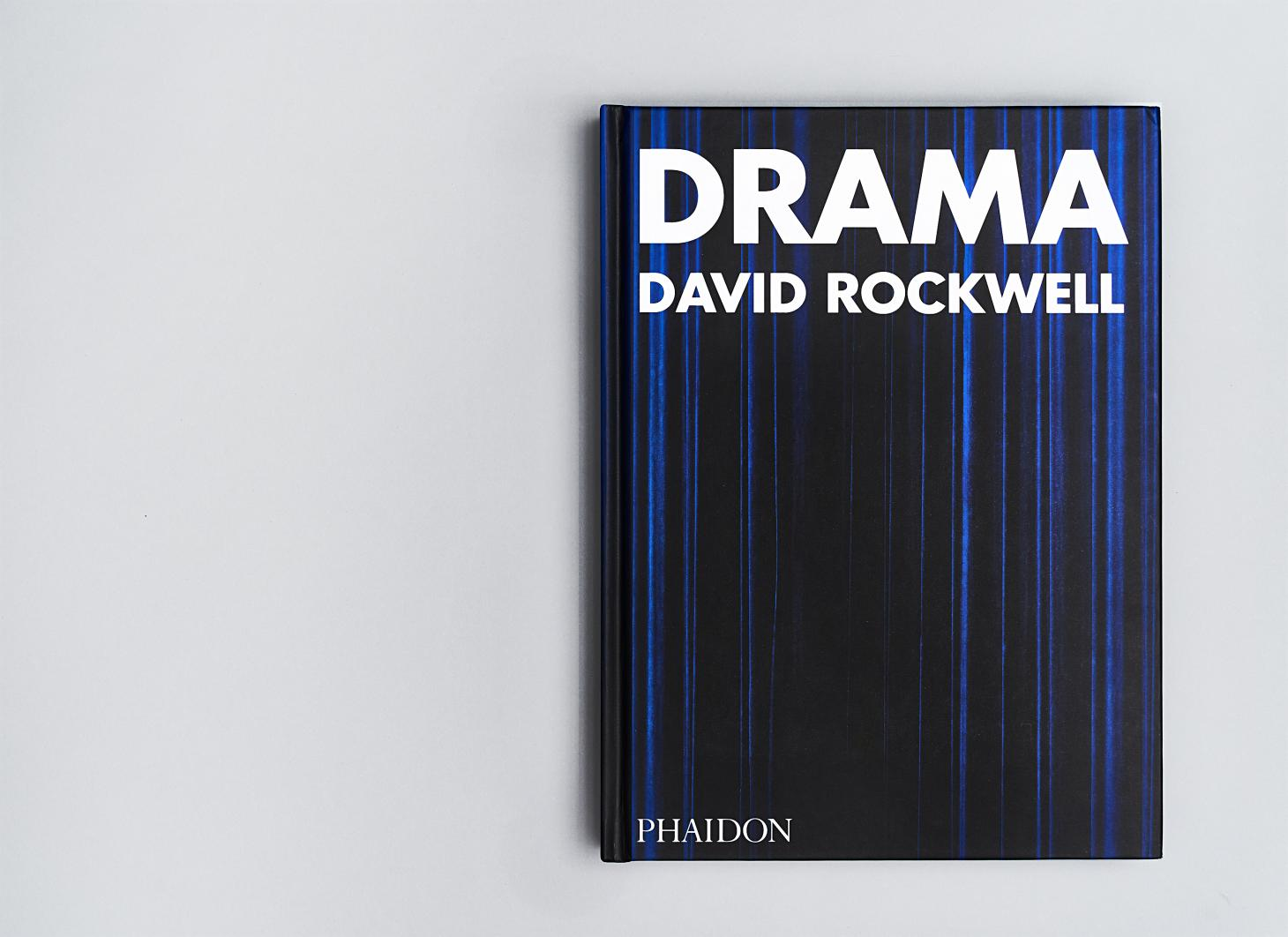 Blue book cover of Drama by David Rockwell