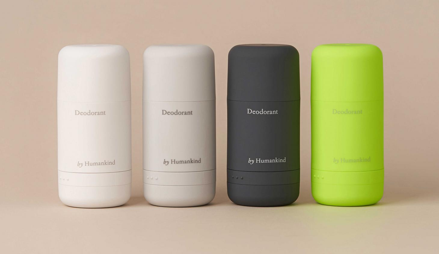 Humankind deodorant in four colours