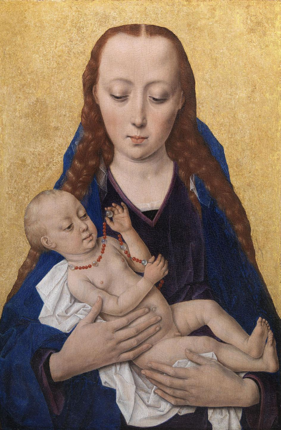 Dieric Bouts, Virgin with Child, 1454, oil on wood, National Gallery of Denmark