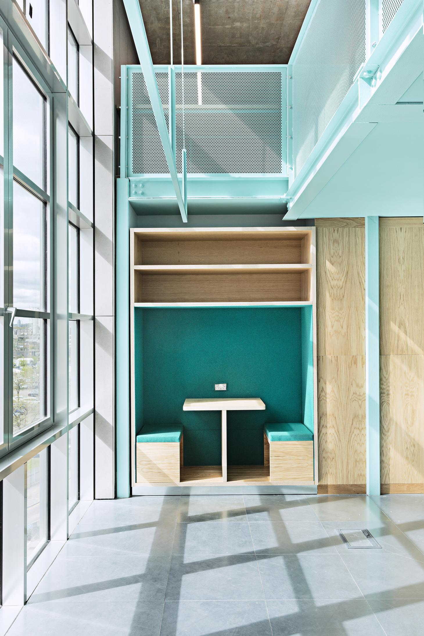 Design District launches A1, seen here using bright blue-green in its interior