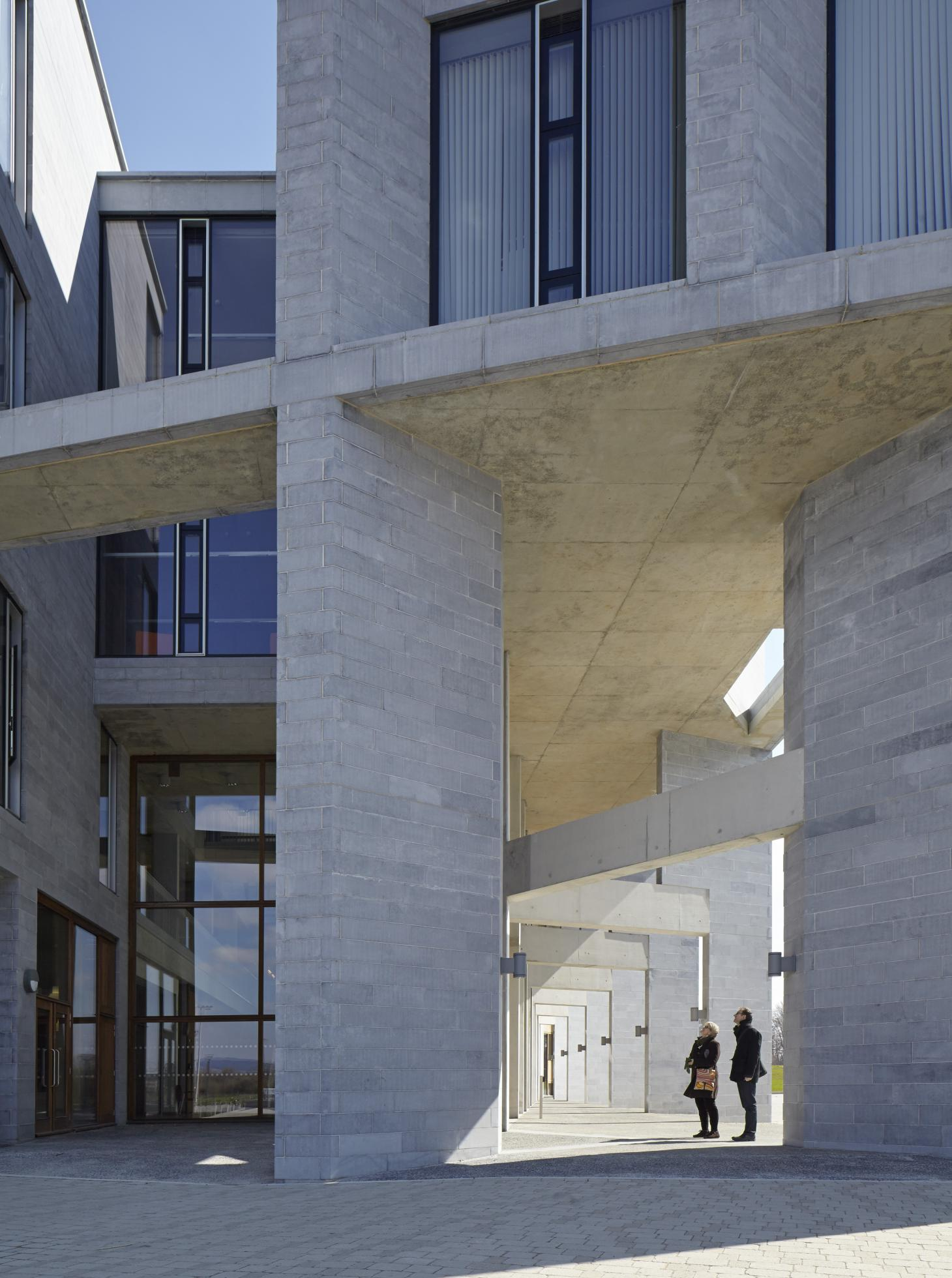 Medical School Building and Student Accommodation at the University Limerick, Grafton Architects, 2012, photograph by Dennis Gilbert
