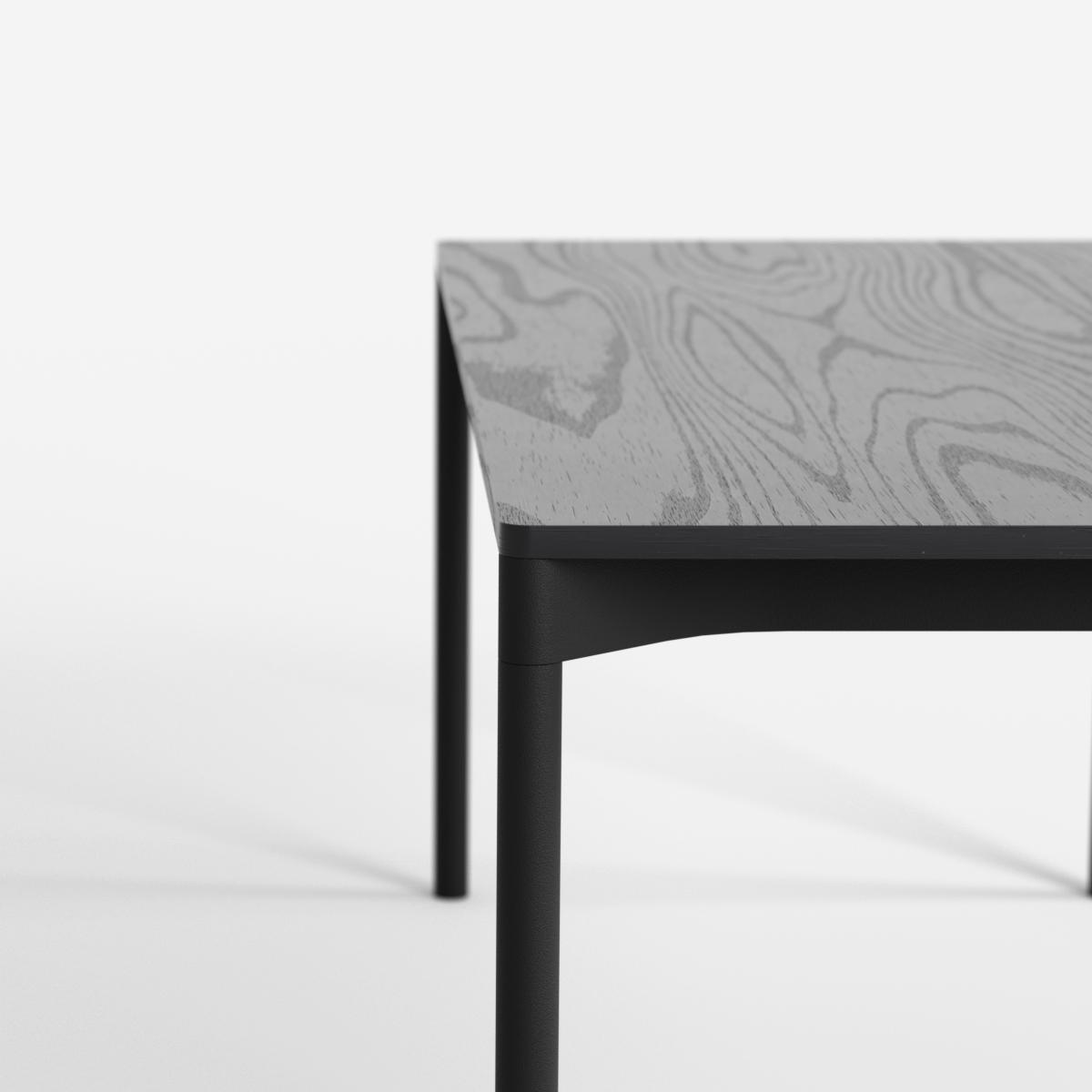 Detail of black wooden desk by Dims