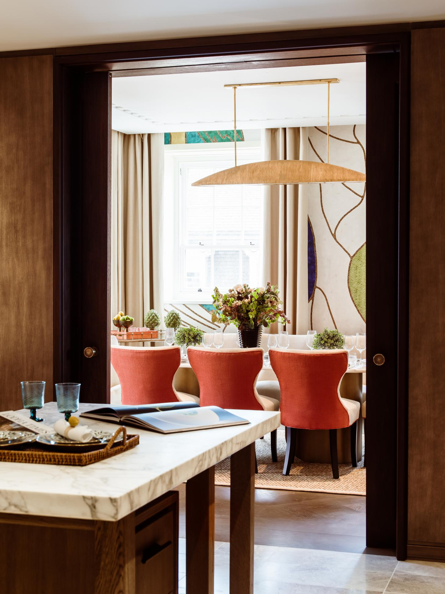 the newly launches apartments at No.1 Grosvenor Square feature lots of colour