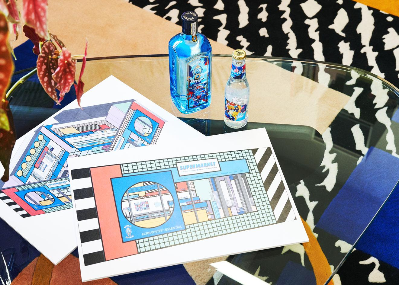 plans for 'Supermarket', an installation designed byCamille Walala at the Design Museum in London