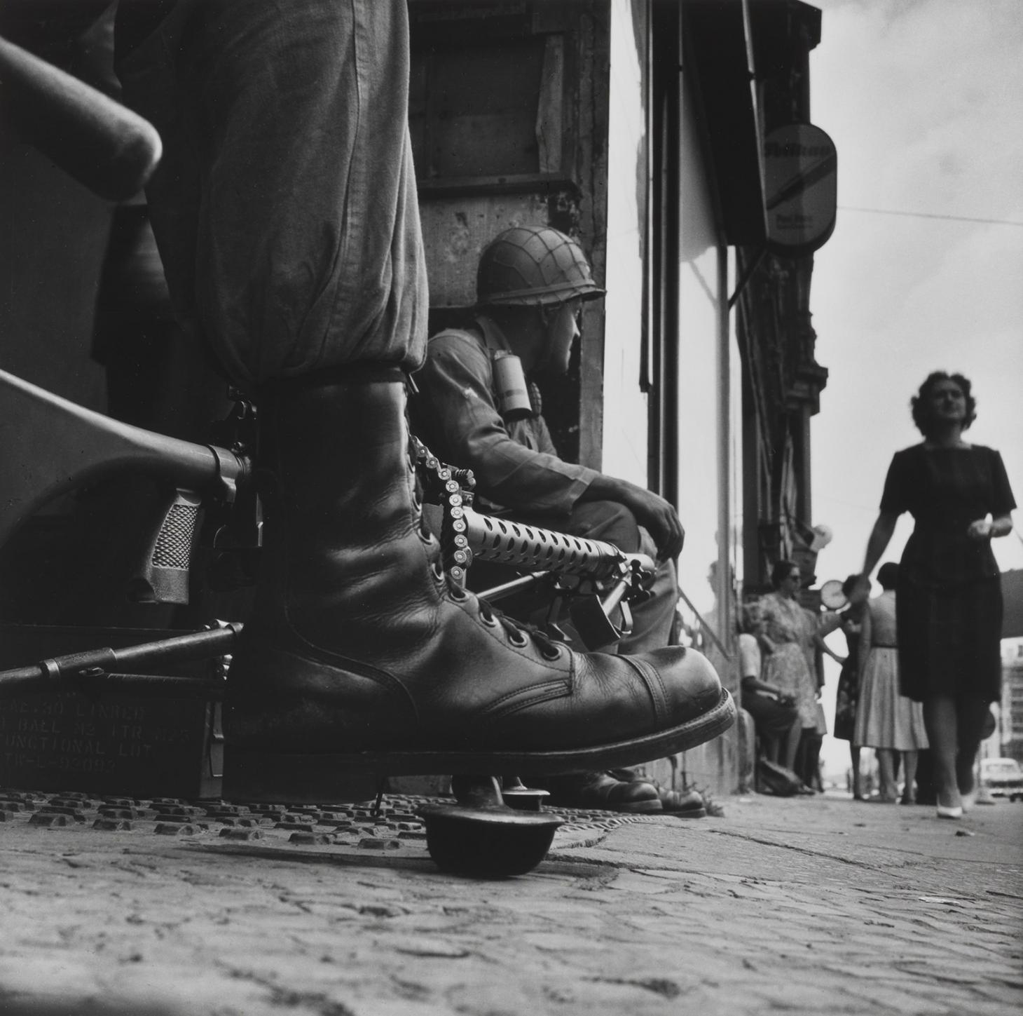Near Checkpoint Charlie, Berlin, 1961, by Don McCullin