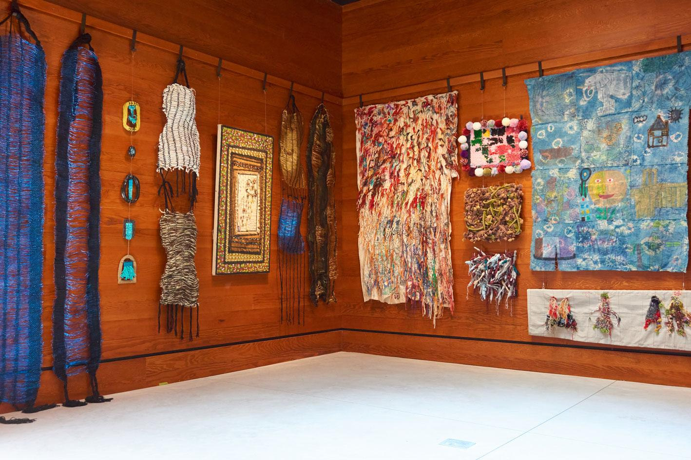 Installation view of theTextile and Fibre Art Programme at the Ace Hotel Brooklyn
