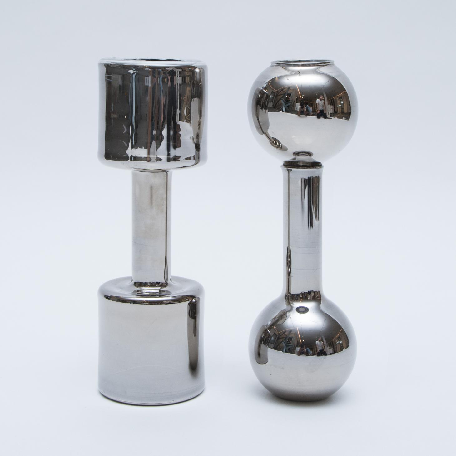 Beirut Power glass candleholders by Wyssem Nochi