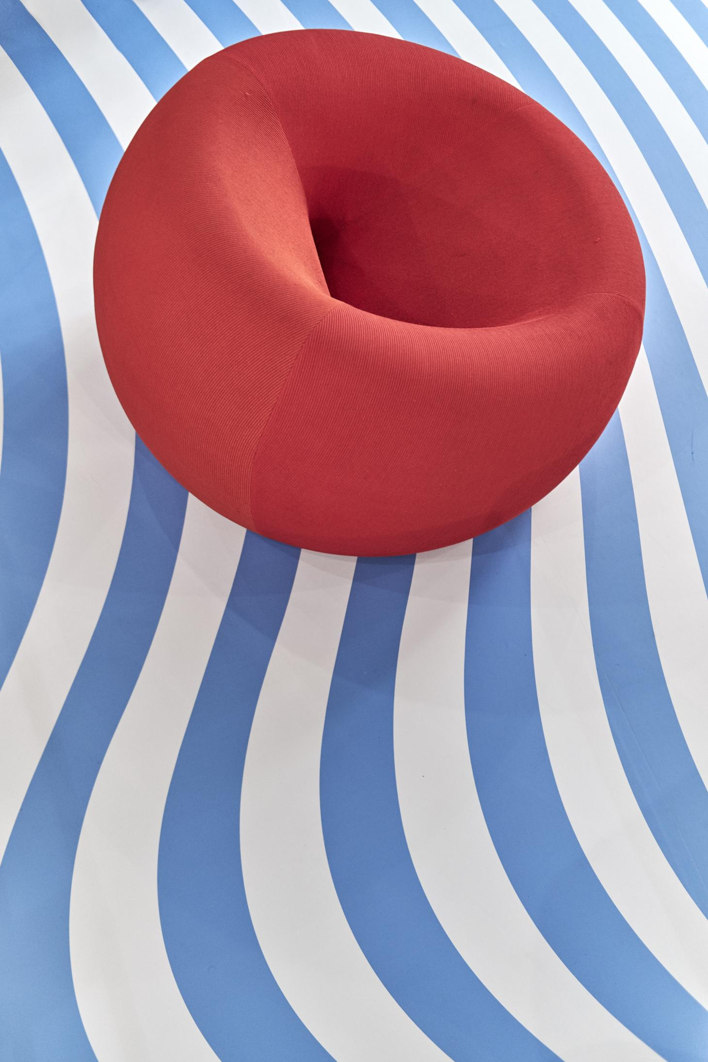Centre Pompidou's candy-striped design show makes waves in the south of France