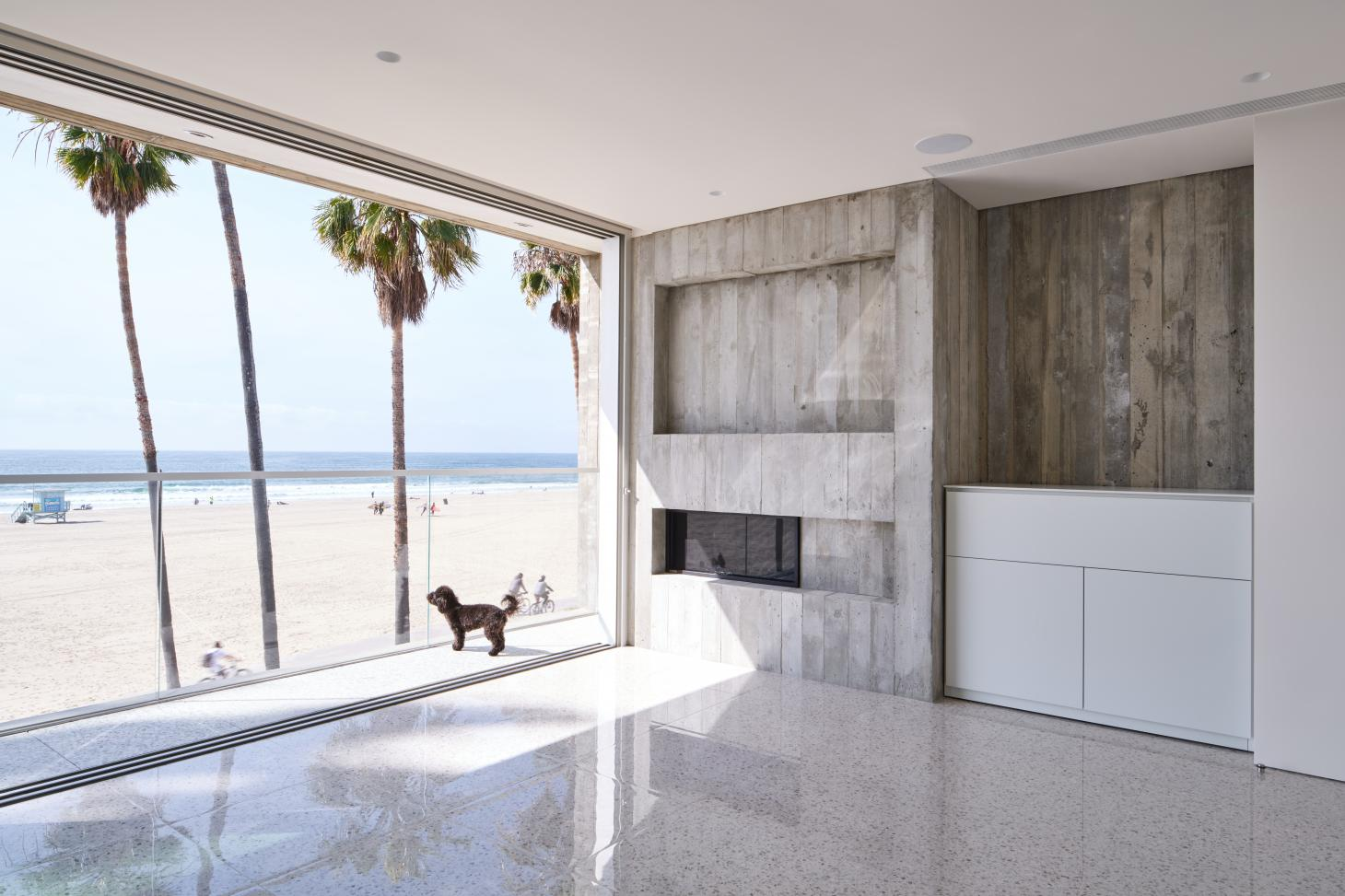 Venice Beach house by Dan Brunn, showing doggy looking out towards the sea