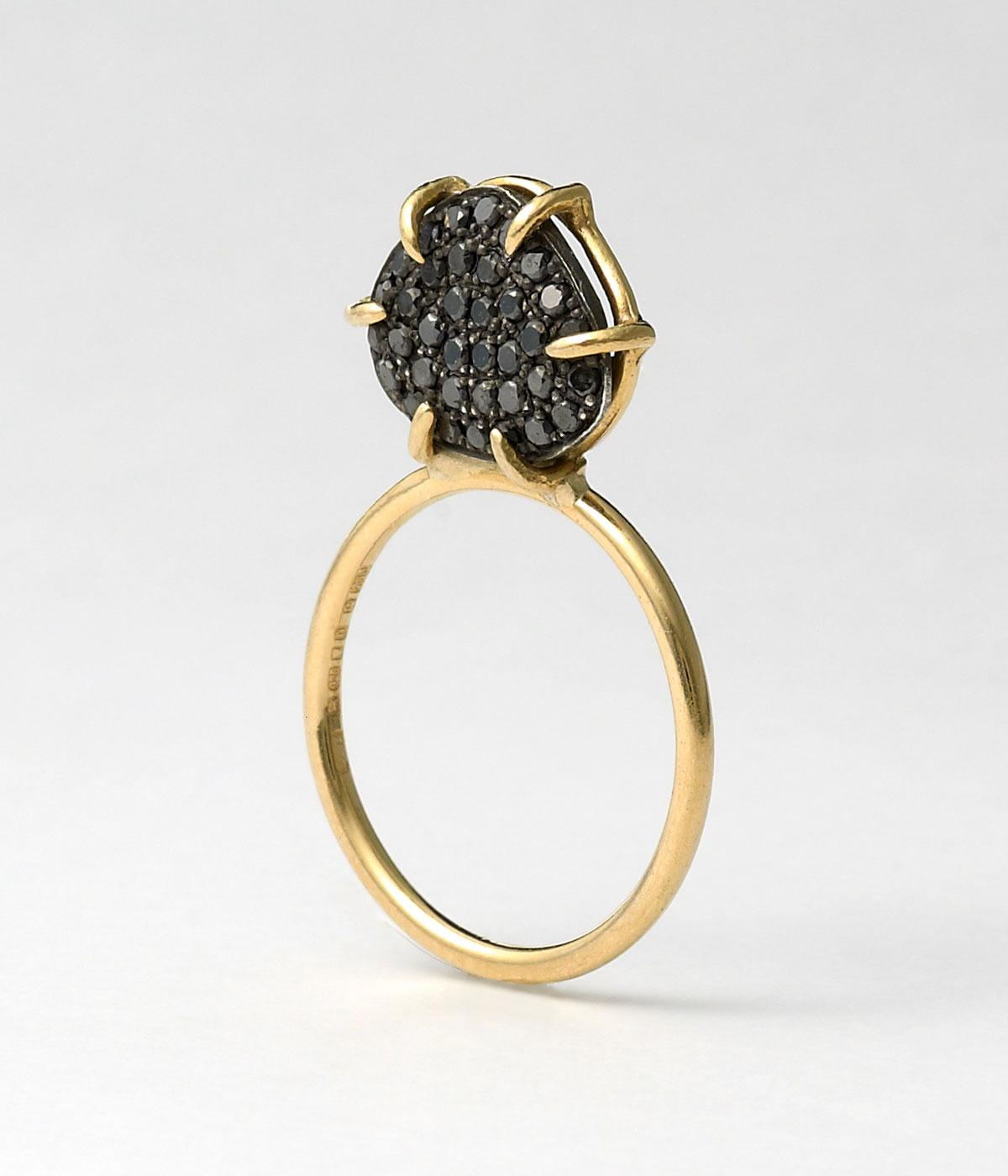Black diamond ring by Dalilia