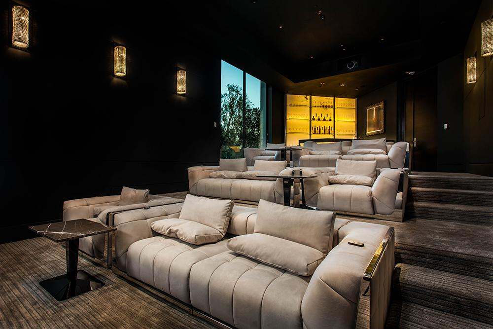 Visionnaire in-home screening room Los Angeles showroom