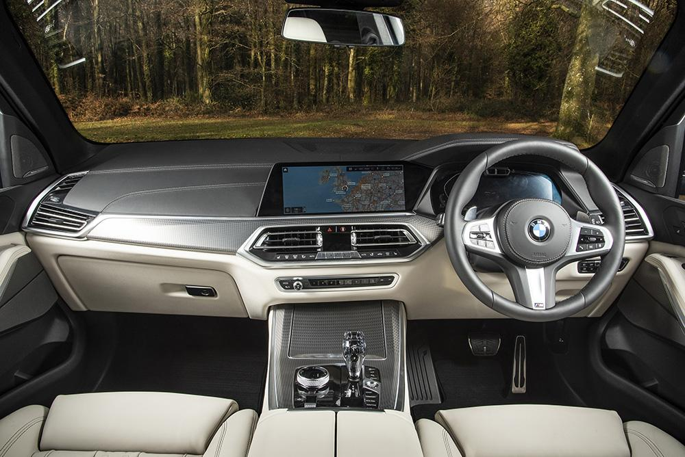 BMW X5 interior and dashboard