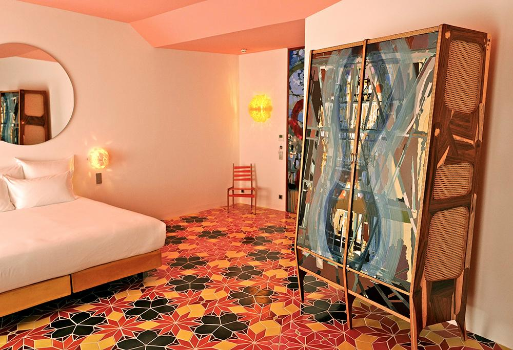 Guestroom at l'Arlatan, by Jorge Pardo and Maja Hoffmann