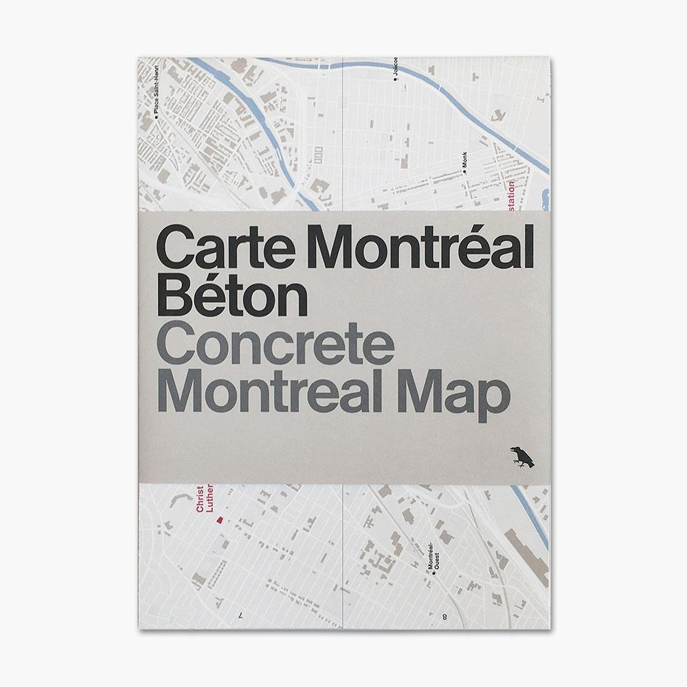 Architectural map of Montreal unfolds Canadian concrete feats