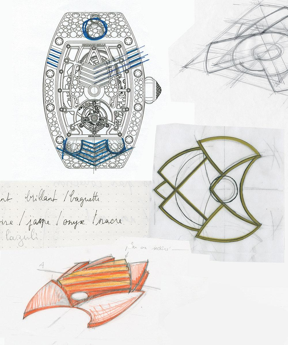 Richard Mille hand-drawn sketch