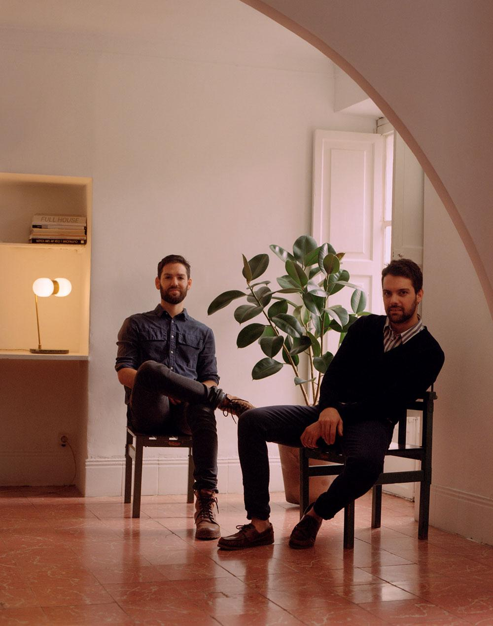 Mauricio Obarrio and Juan Peralta in their Palma de Mallorca studio